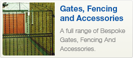 A full range of Bespoke Gates, Fencing And Accessories.